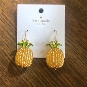NWT Kate Spade Pineapple Earrings